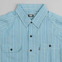 Levi's® Skate Maintenance Long Sleeve Shirt Strip Blue