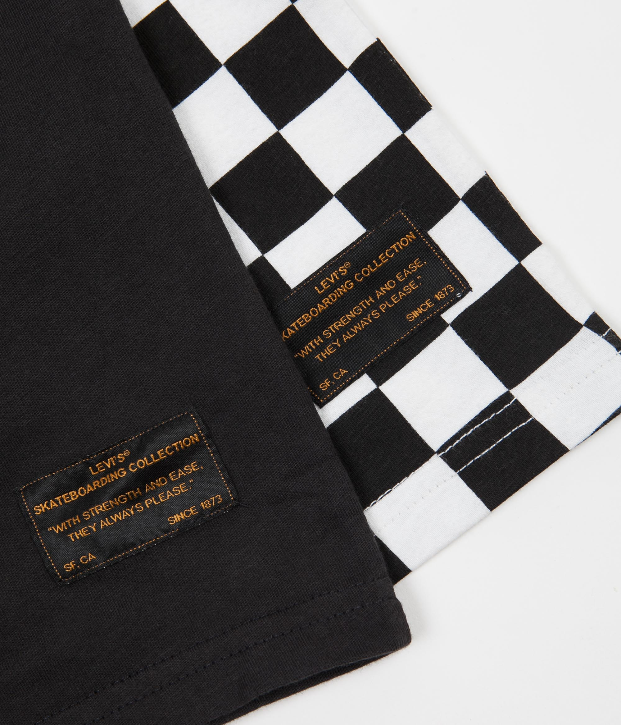 Levi's® Skate 2 Pack T-Shirt - Black White Checkerboard / Jet Black