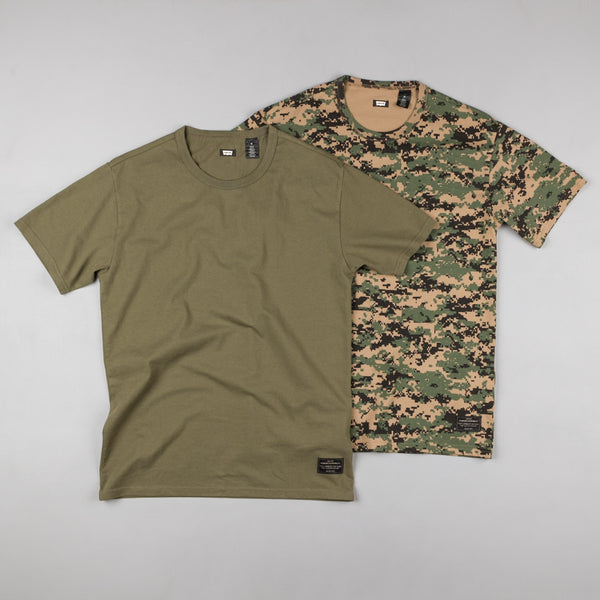 Levi's® Skate 2 Pack T-Shirt - Camo / Ivy Green