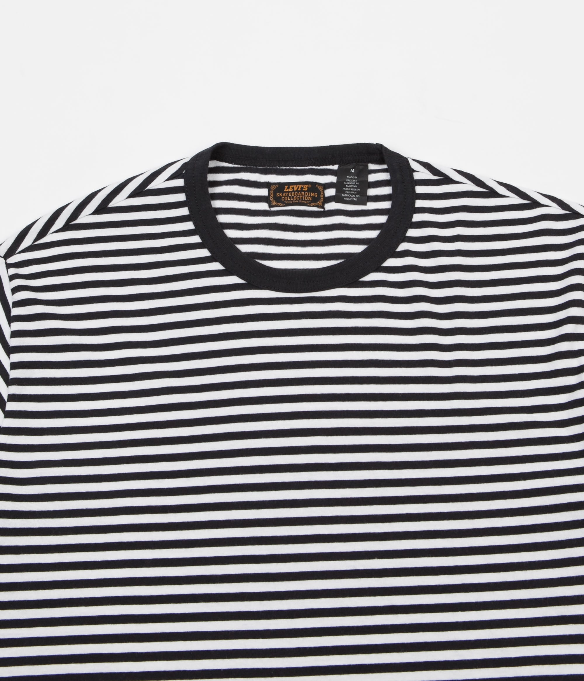 Levi's® Skate 2 Pack T-Shirt - Stripe Black / Heather Grey
