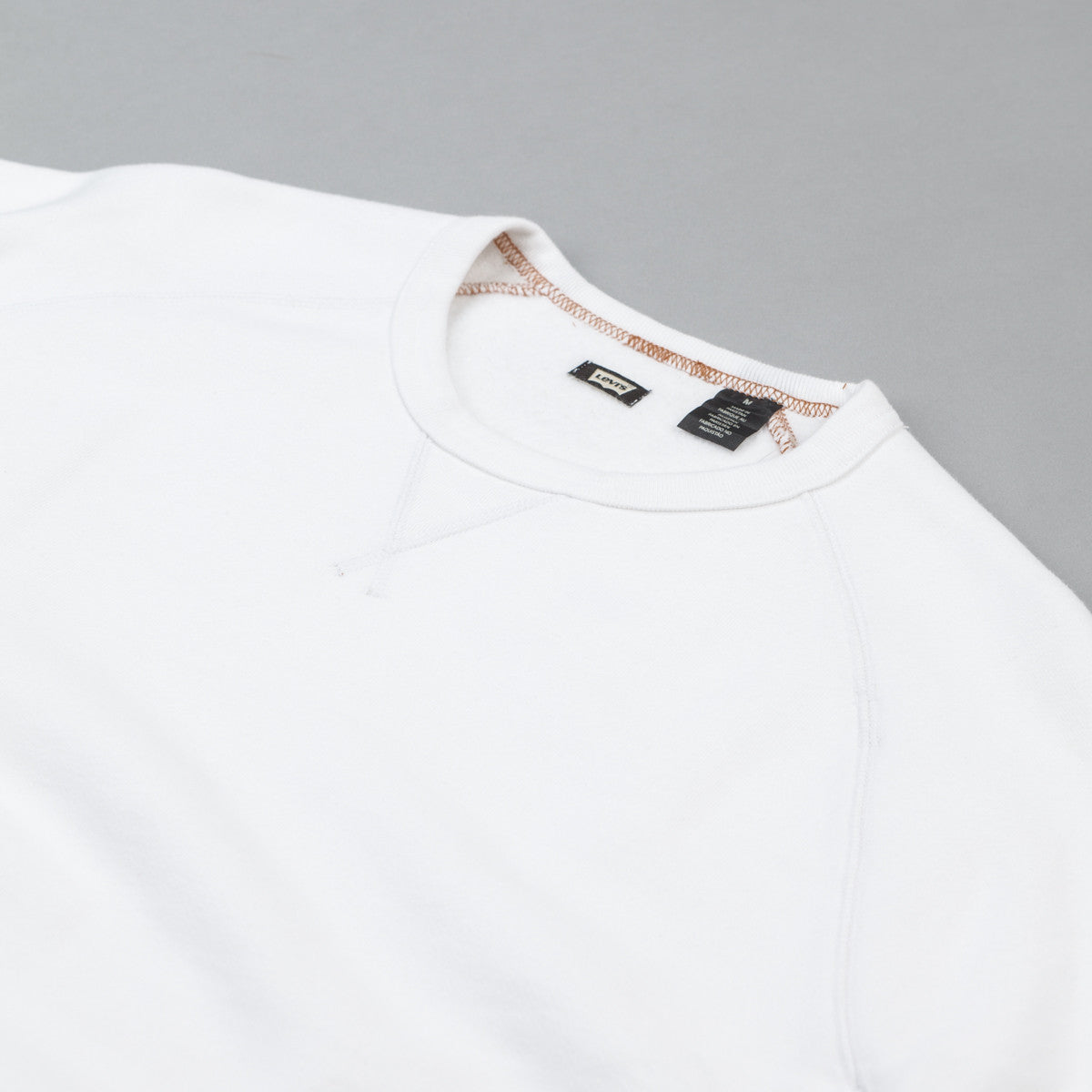 Levi's® Skate Crew Neck Sweatshirt - Bright White