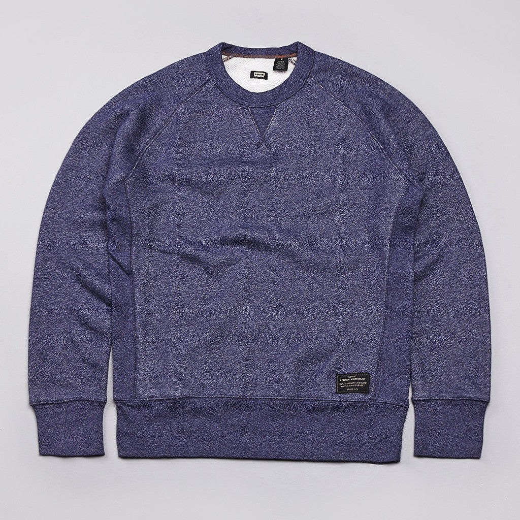 Levi's® Skate Fleece Crew Sweatshirt Blue Heather