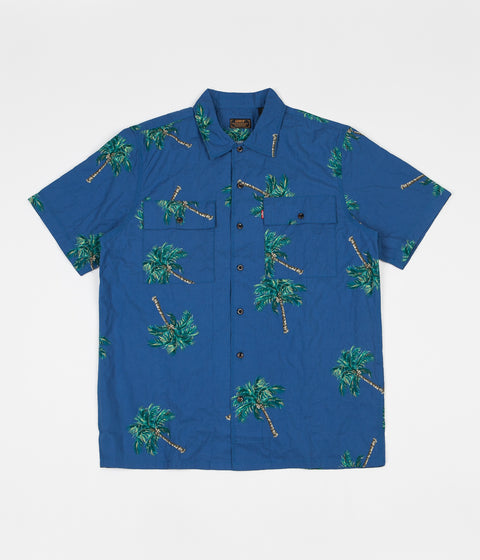 Levi's® Skate Short Sleeve Button Down Shirt - Watercolor Palm / Bright Colbalt
