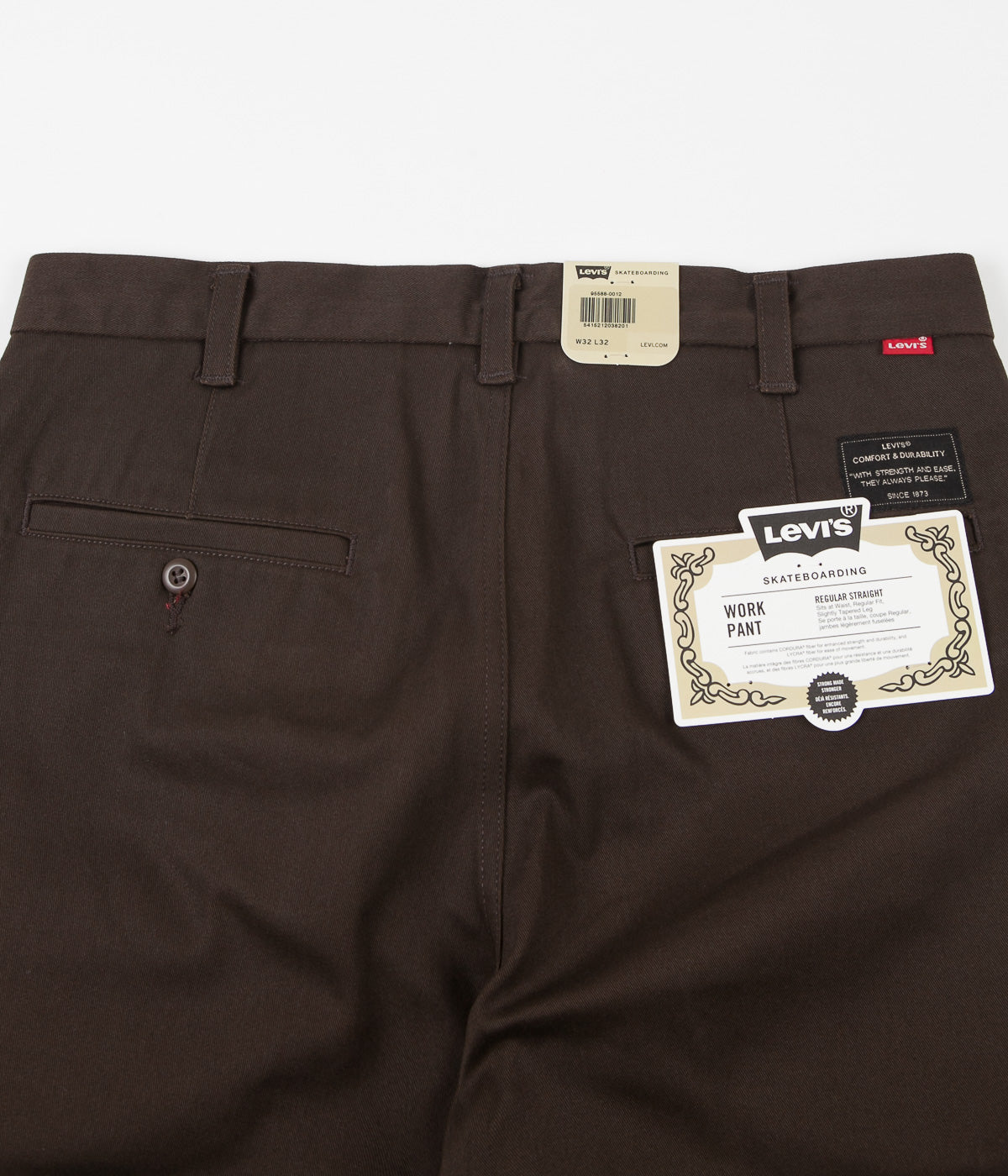 Levi's® Skate Work Trousers - Demitasse Brown