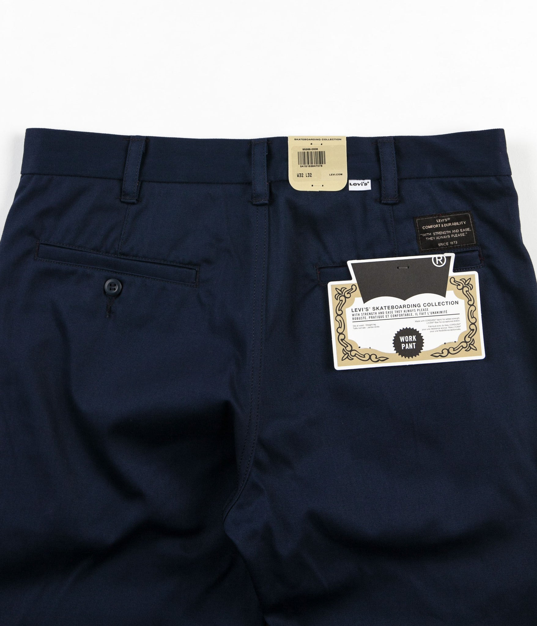 Levi's® Skate Work Trousers - Navy Blazer Twill