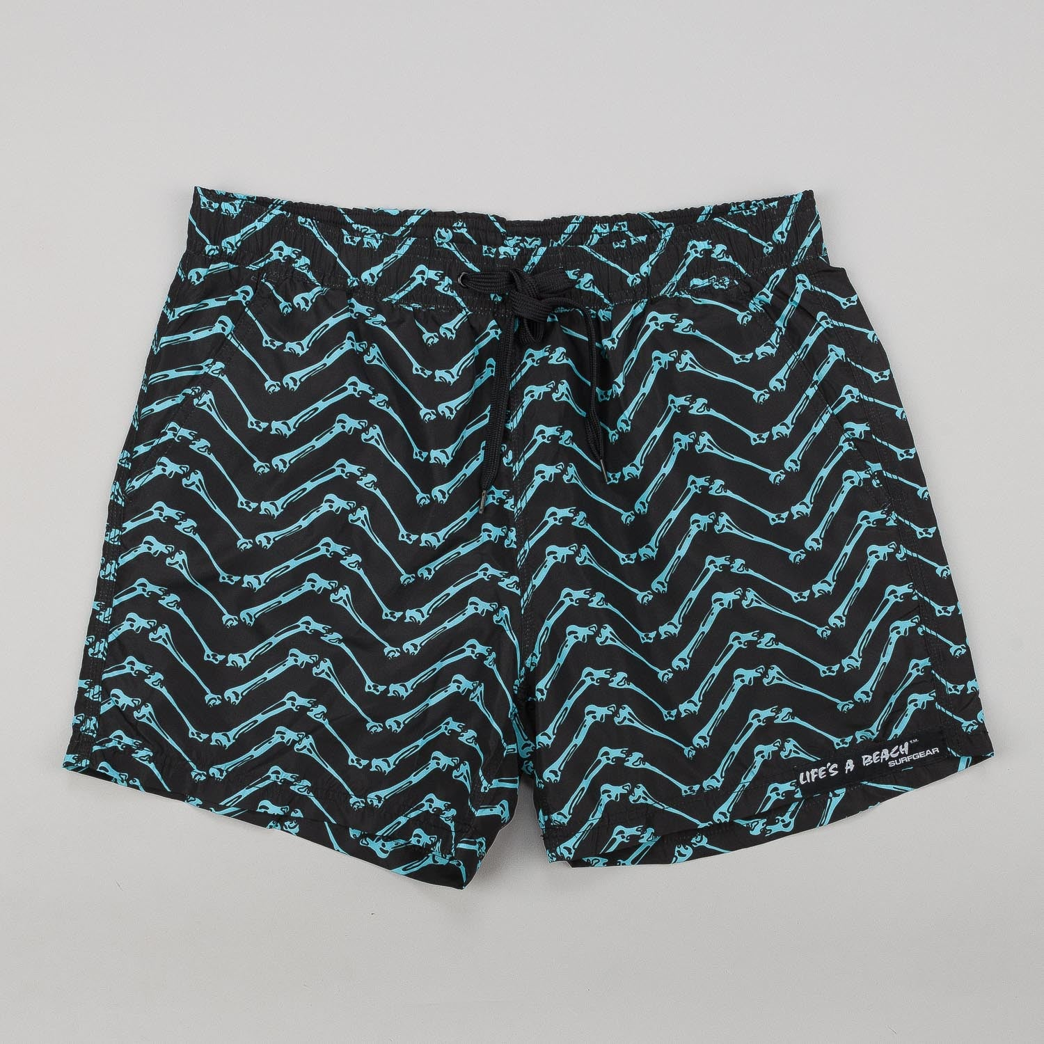 Life's A Beach Bones Board Shorts - Turquoise