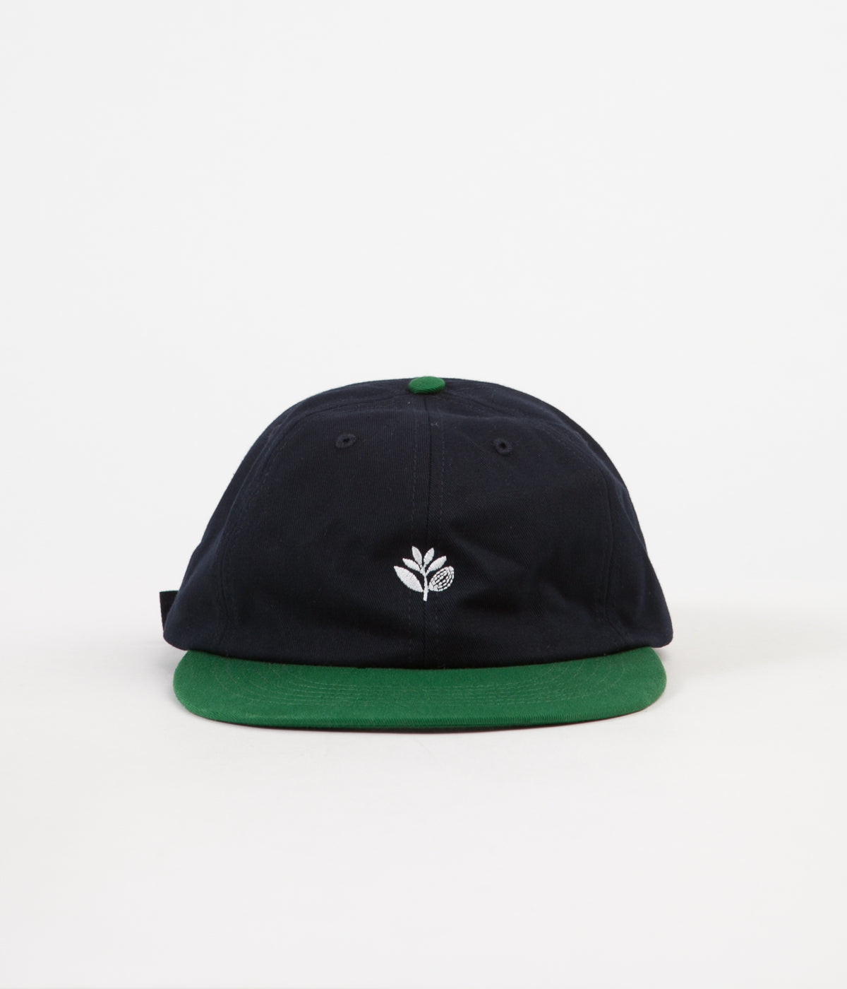 Magenta 6 Panel Cap - Navy / Green