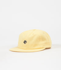 Magenta 6 Panel Cap - Yellow
