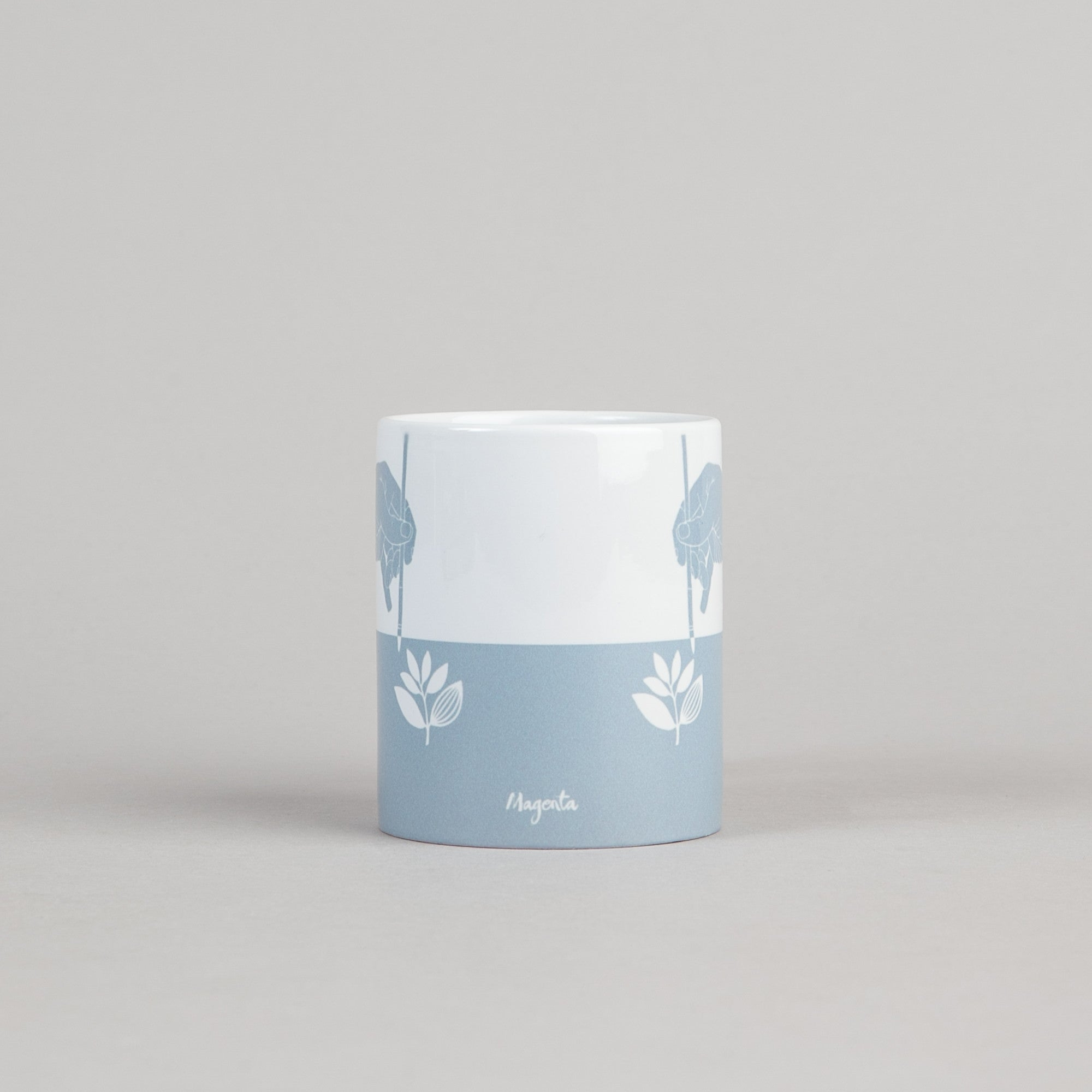 Magenta Bush Mug - Blue / White