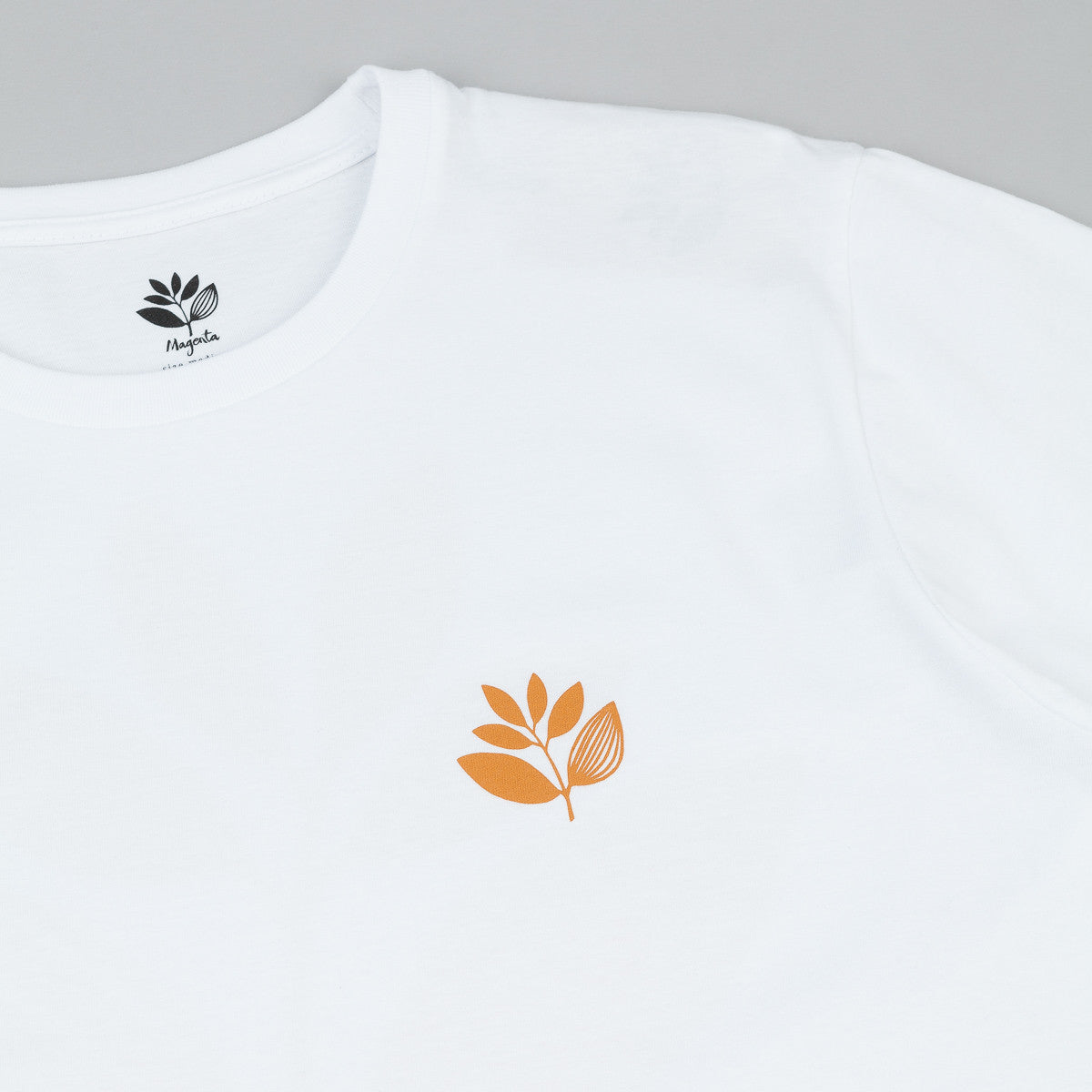 Magenta Classic Plant T-Shirt - White / Orange