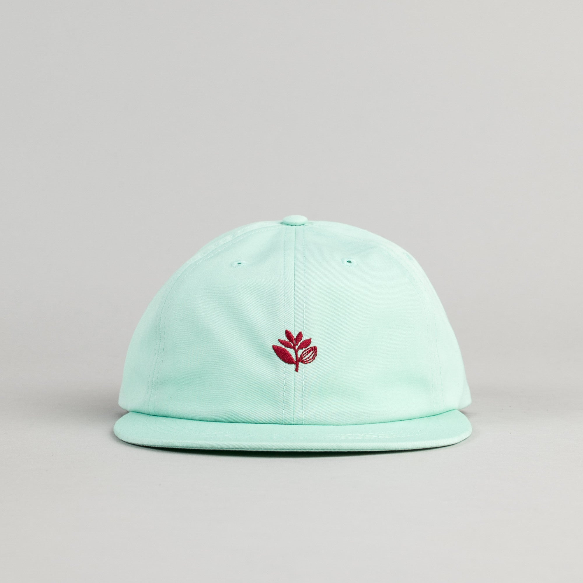Magenta Cotton Brode 6 Panel Cap - Mint