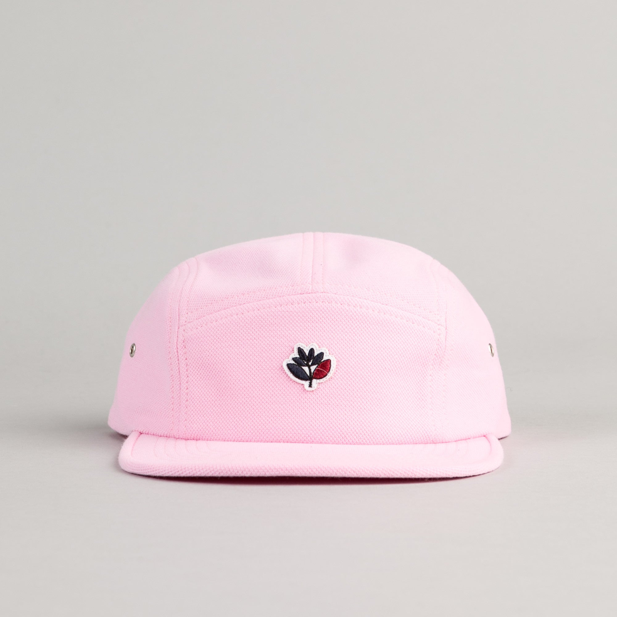 Magenta Cotton Pique Plant 6 Panel Cap - Rose
