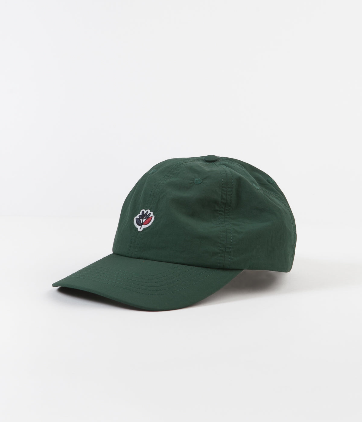 Magenta Dad Cap - Green Nylon