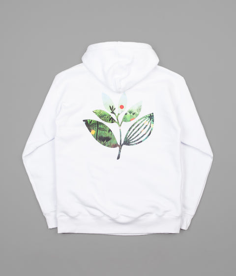 Magenta Jungle 2 Hoodie - White