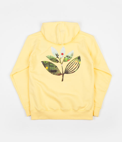 Magenta Jungle 2 Hoodie - Yellow
