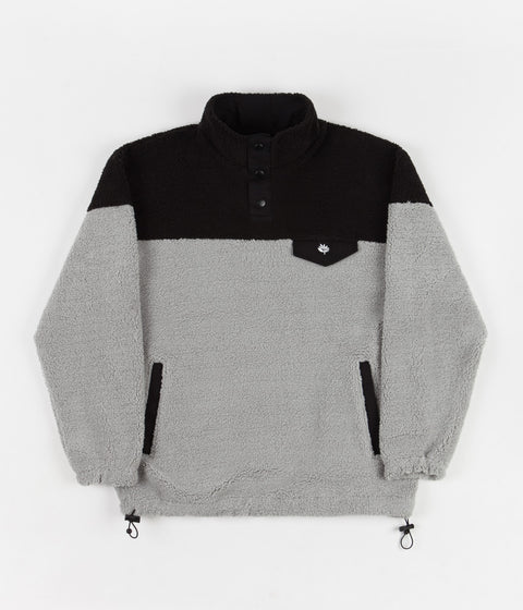 Magenta MTN Duo Tone Pullover Fleece - Black / Light Heather Grey