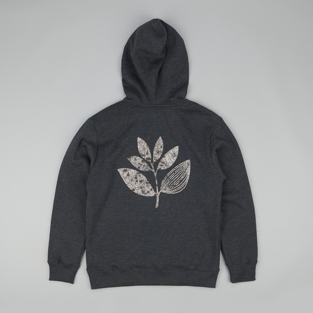 Magenta Paris Plant Hooded Sweatshirt - Charcoal Heather