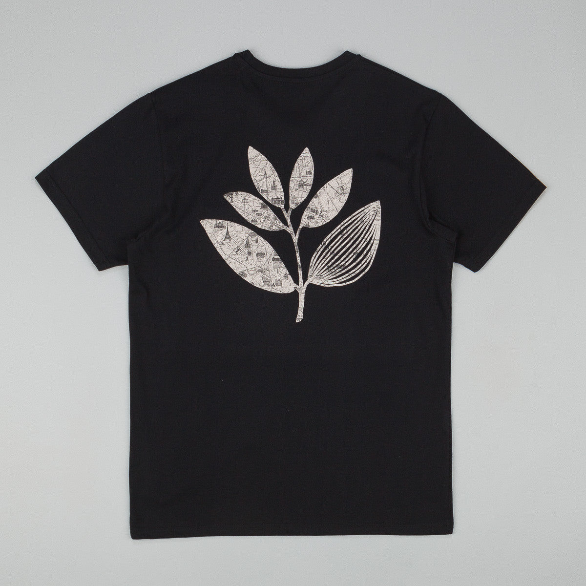 Magenta Paris Plant T-Shirt - Black