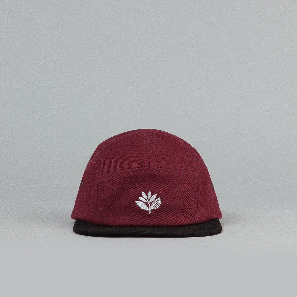 Magenta Plant 5 Panel Cap - Burgundy / Black