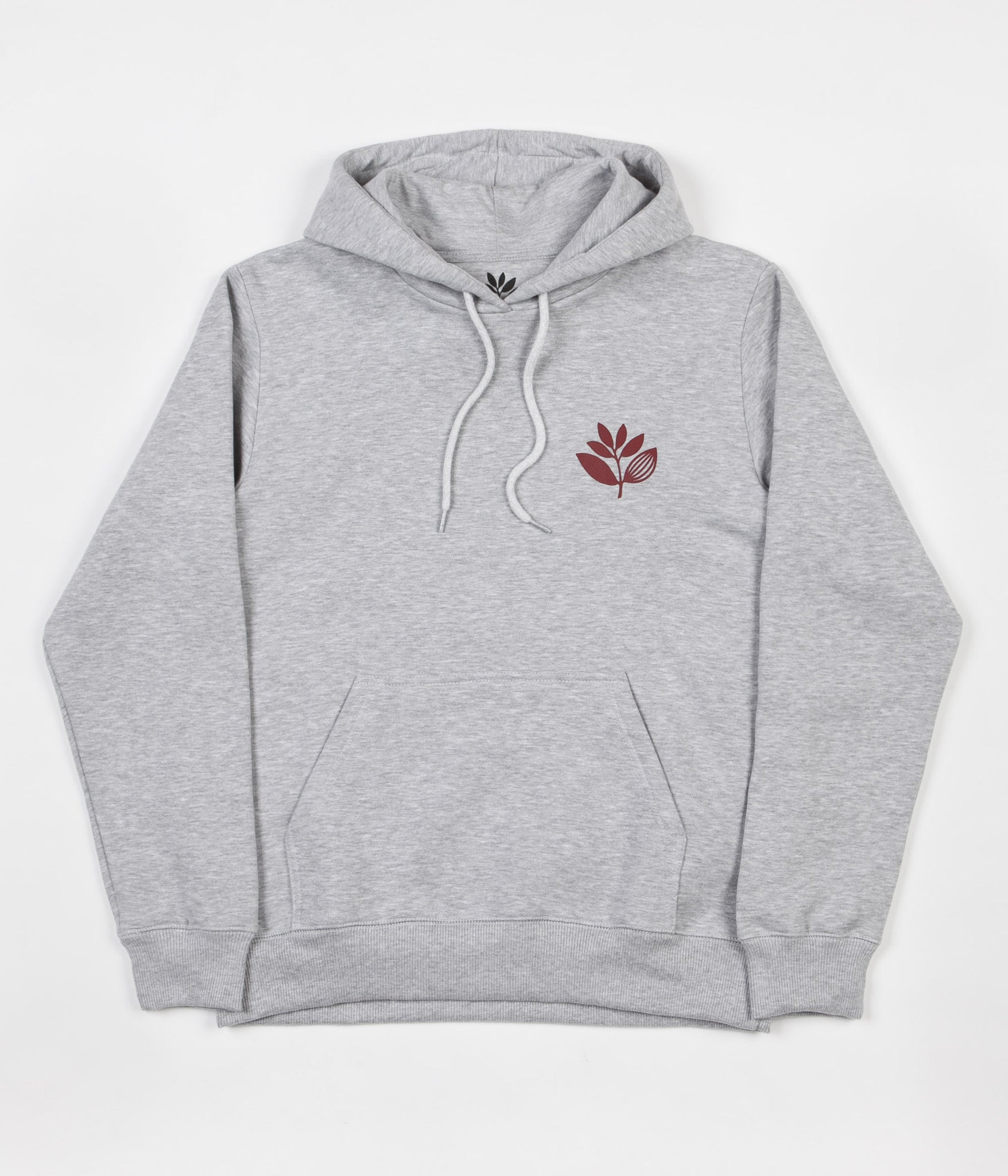 Magenta Plant Hooded Sweatshirt - Light Heather