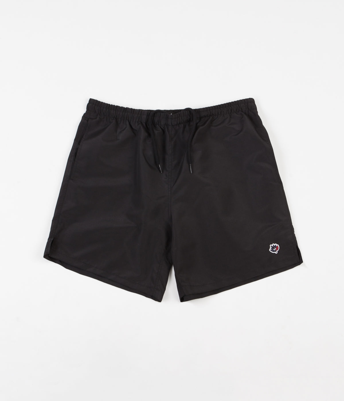 Magenta Plant Patch Shorts - Black