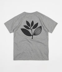 Magenta Plant T-Shirt - Heather Grey