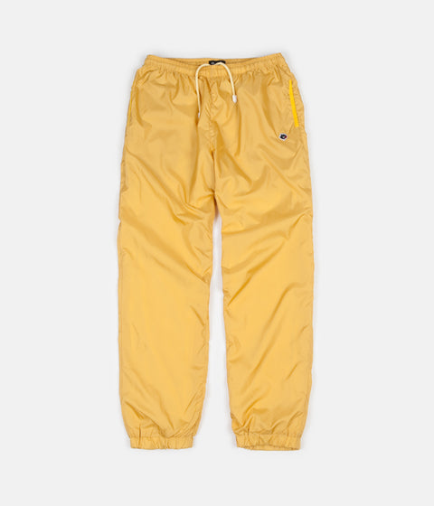 Magenta Plant Track Pants - Pale Yellow