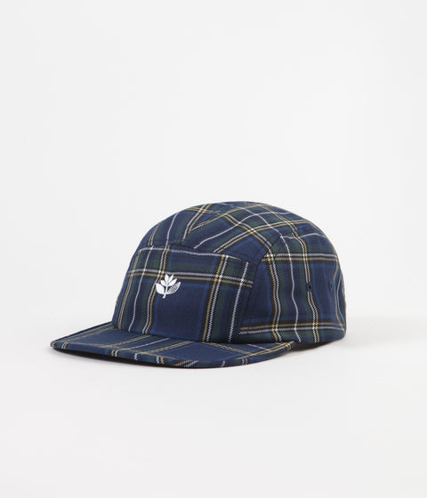 Magenta Tartan 5 Panel Cap - Navy / Multi
