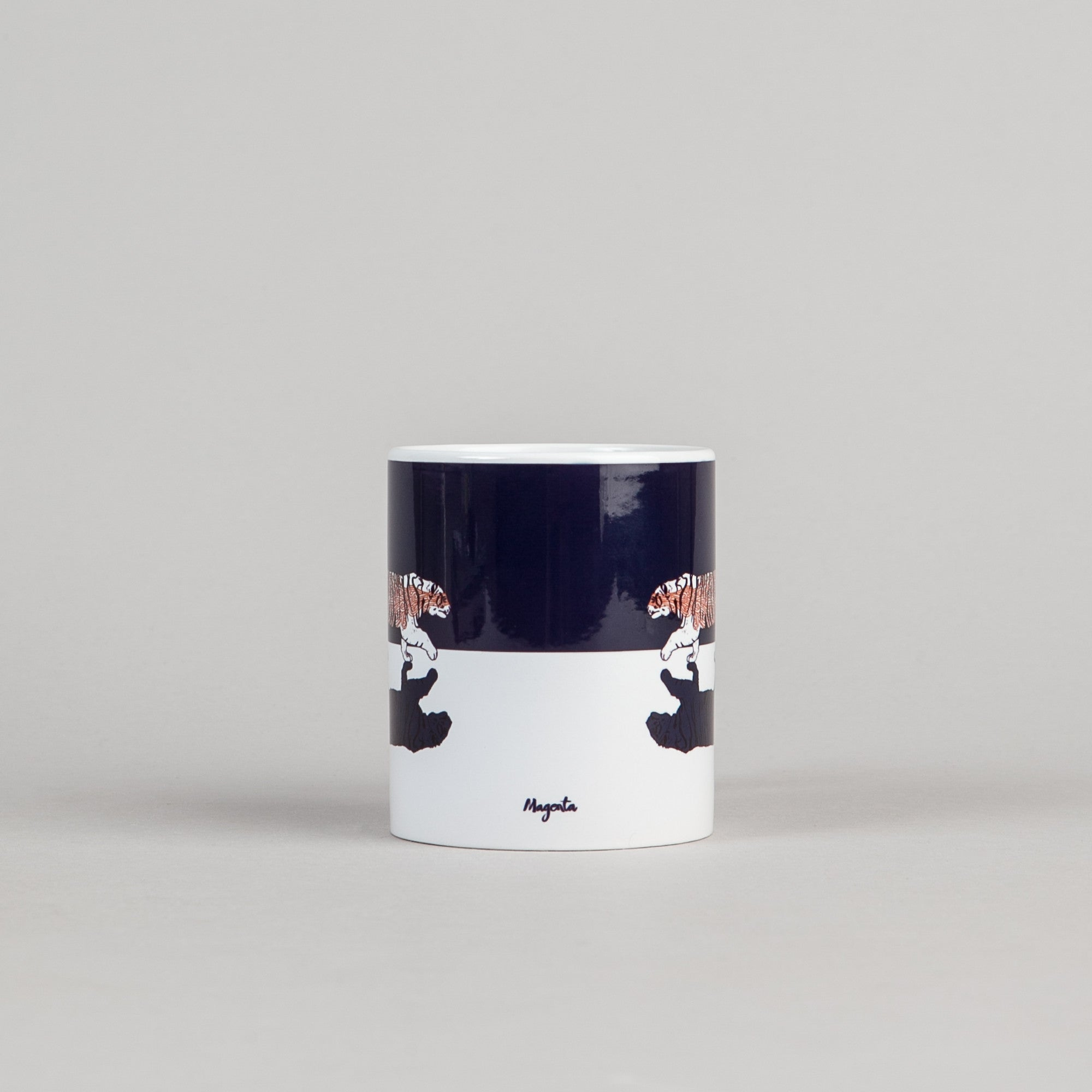 Magenta Tiger Mug - Black / White