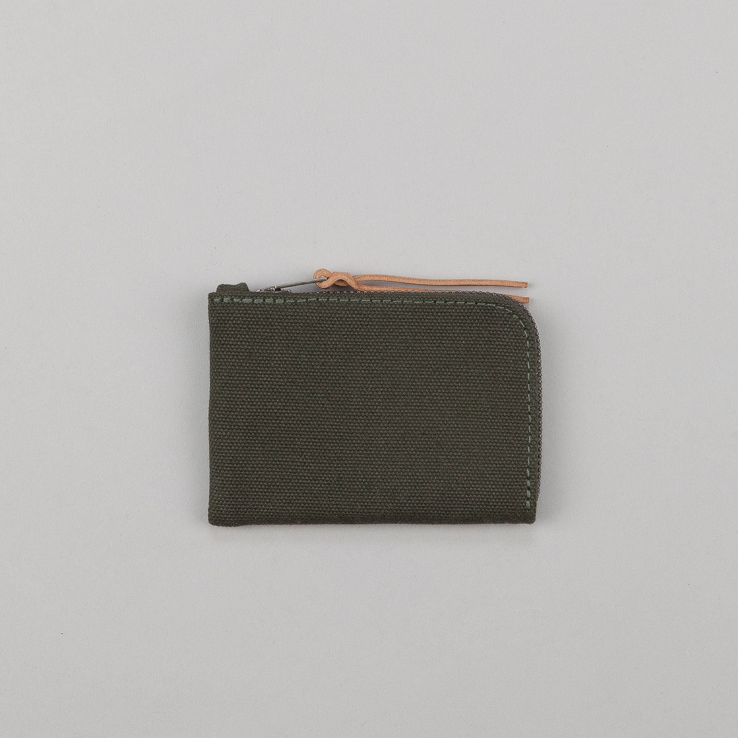 Makr Canvas Zip Slim Wallet - Green