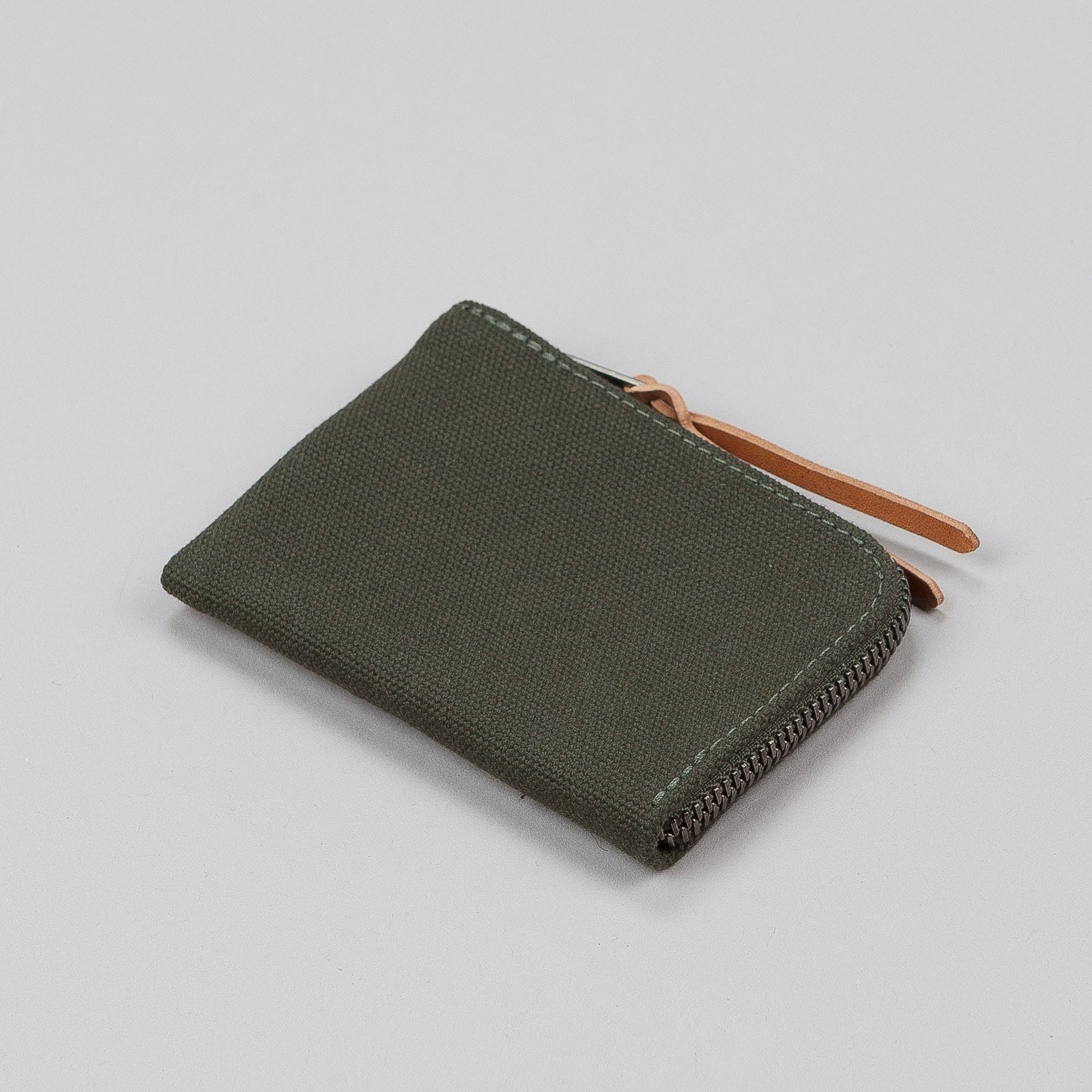 Makr Canvas Zip Slim Wallet - Army Green