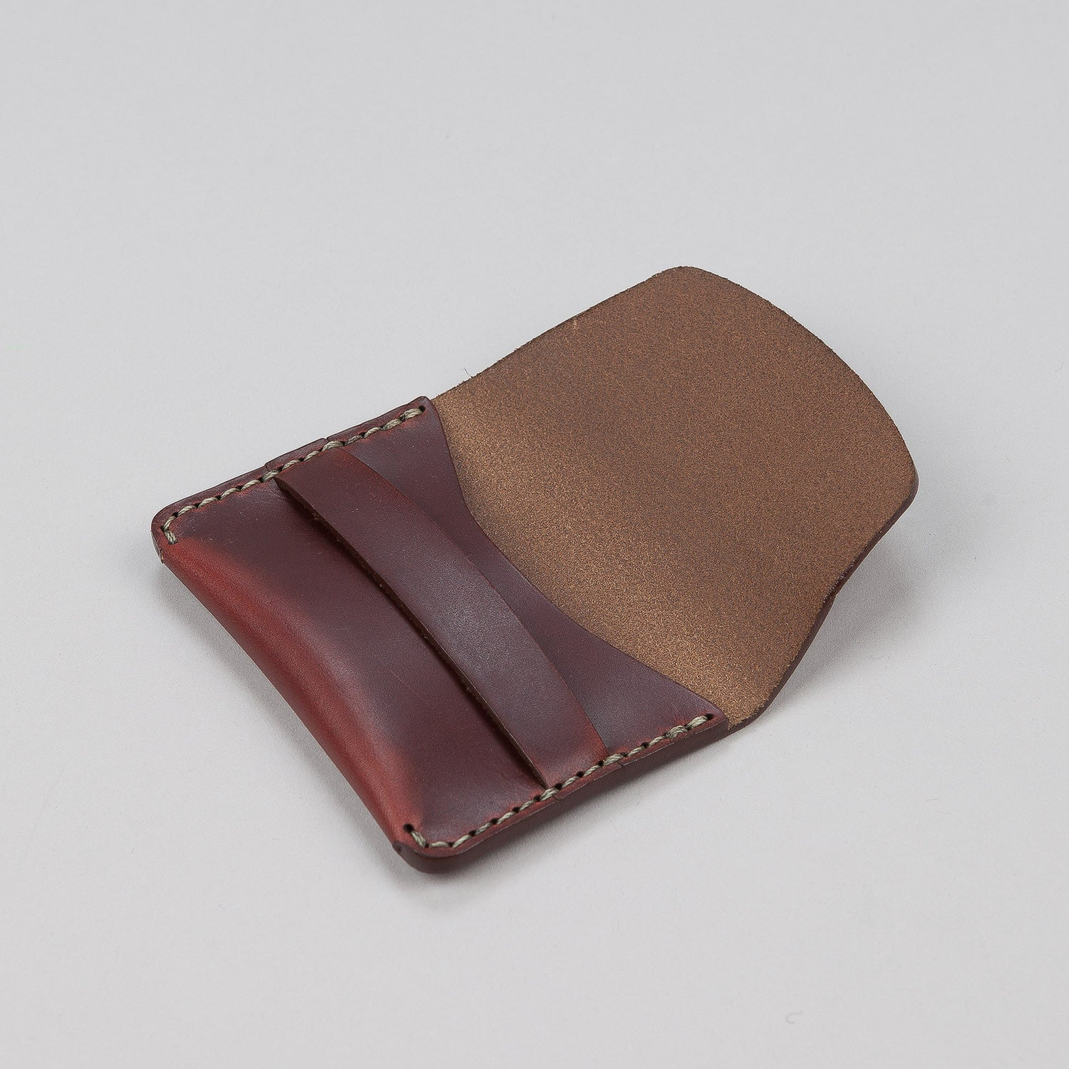 Makr Flap Slim Leather Wallet - Ox Blood