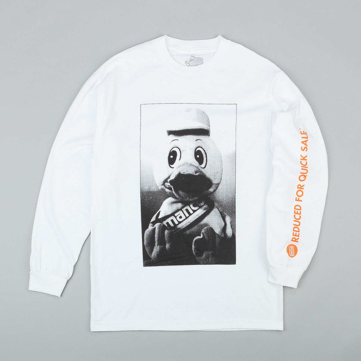 Managers Special Manco Duck Long Sleeve T-Shirt - White