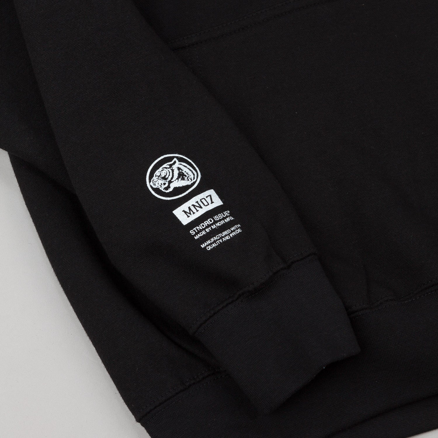 MN07 Block Logo Hooded Sweatshirt - Black