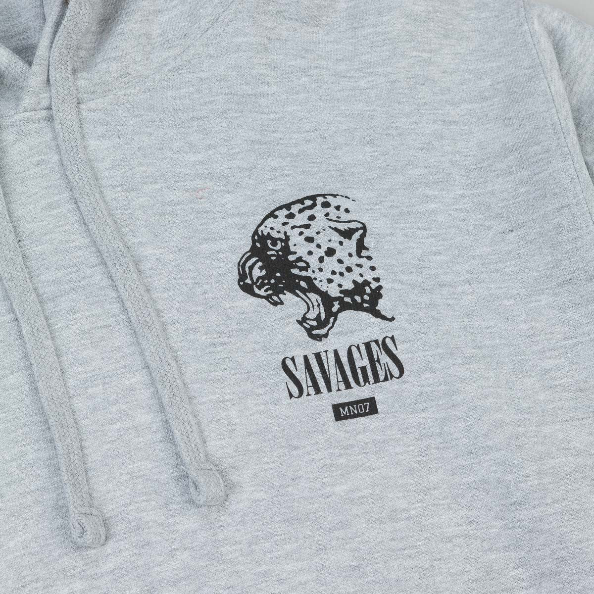 MN07 Savages III Hooded Sweatshirt - Grey Heather
