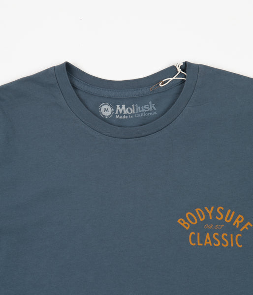 Mollusk Body Surf Classic Long Sleeve T-Shirt - Indigo | Flatspot
