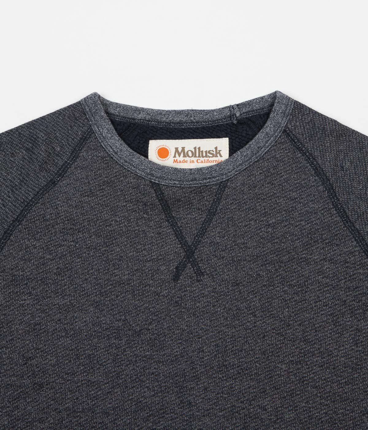 Mollusk Heavy Terry Crewneck Sweatshirt - Faded Navy