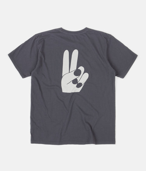 Mollusk Helping Hands T-Shirt - Faded Navy