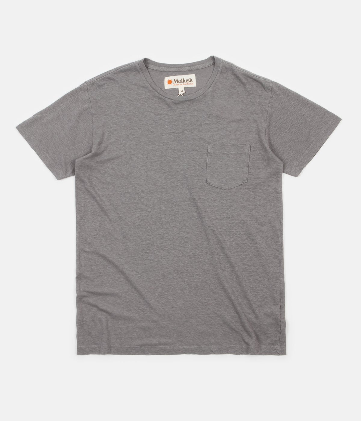 Mollusk Hemp Pocket T-Shirt - Cloud Grey