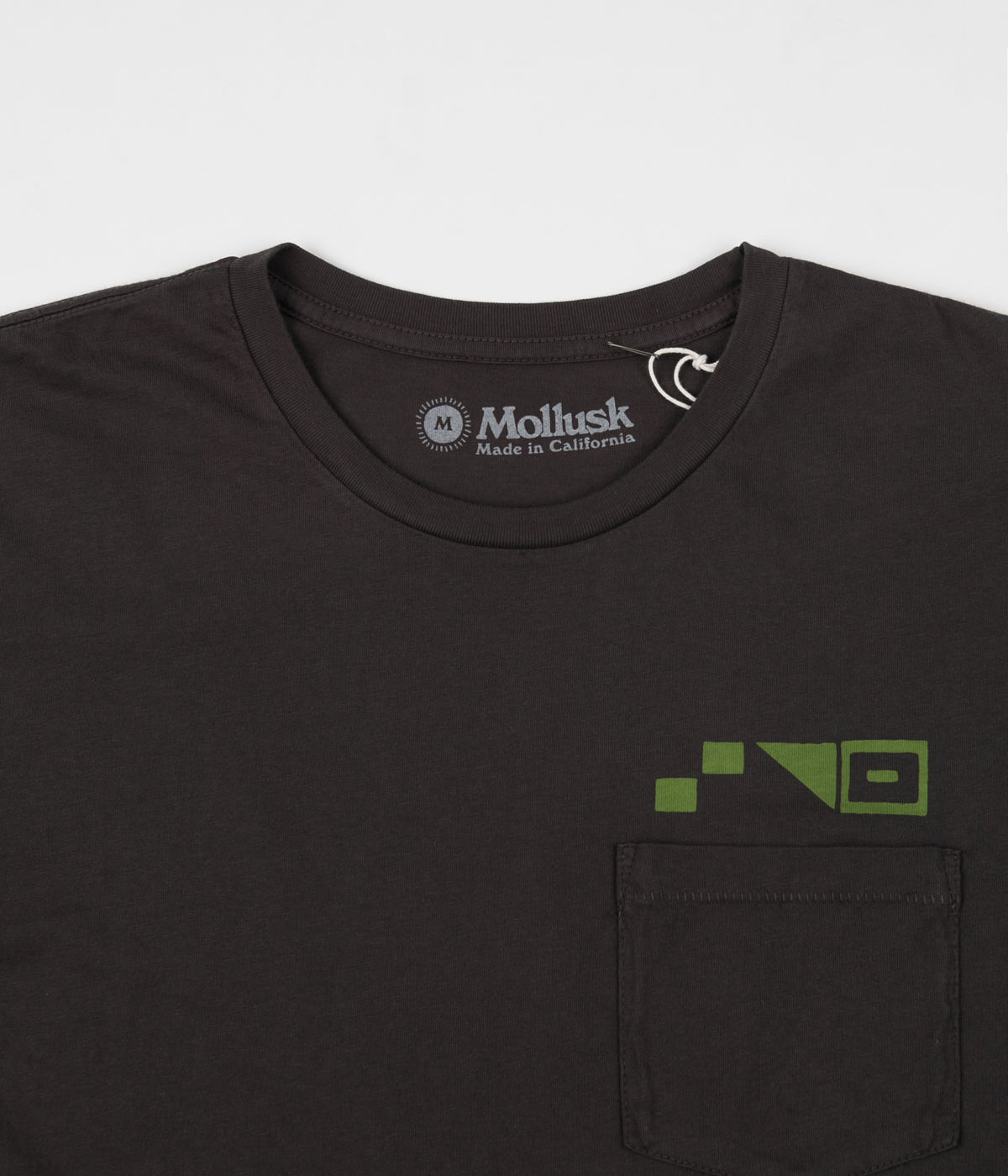 Mollusk High Low T-Shirt - Faded Black