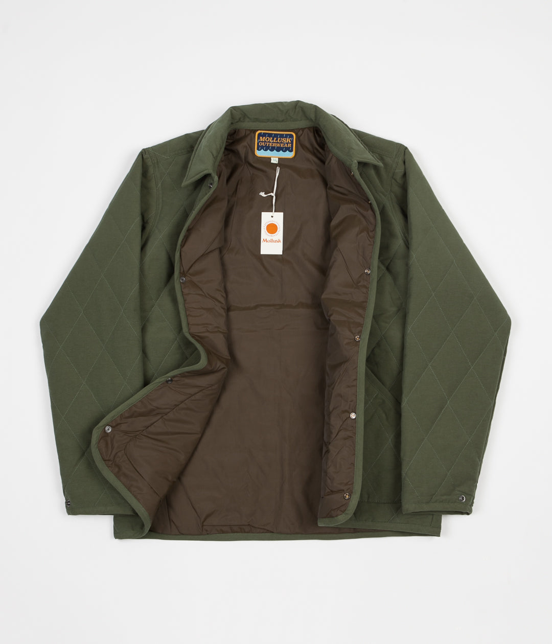 Mollusk Quilted Barn Jacket - Deep Forest