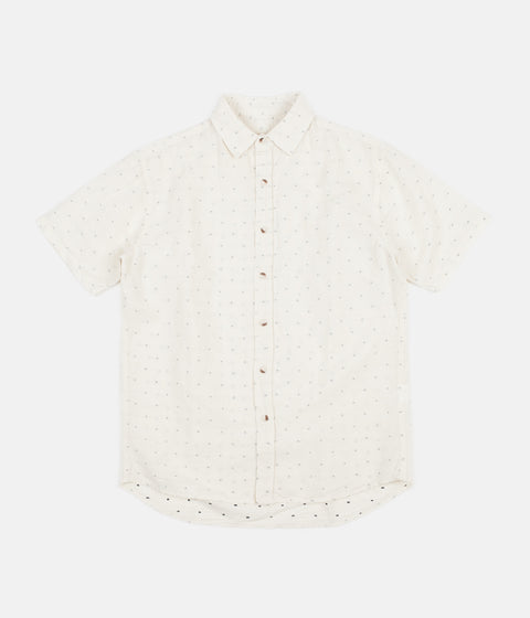 Mollusk Summer Shirt - Natural / Blue Dobby