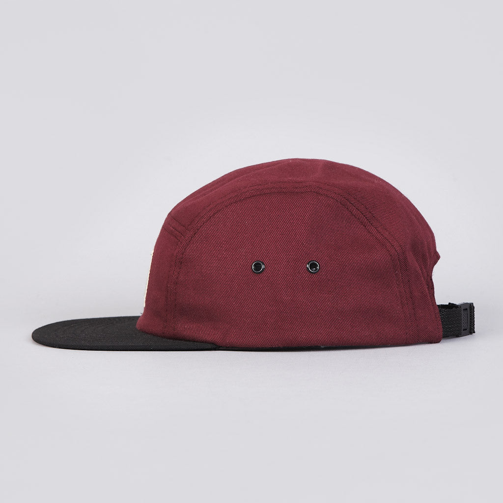 Muttonhead Camp Cap Maroon / Black