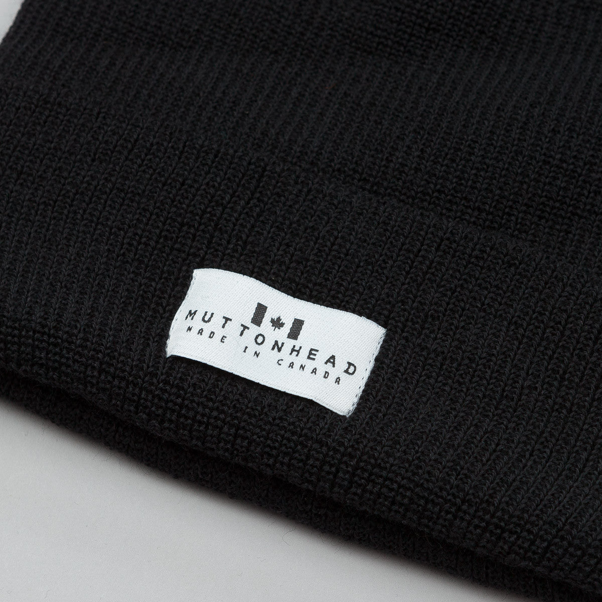 Muttonhead Merino Wool Toque - Black