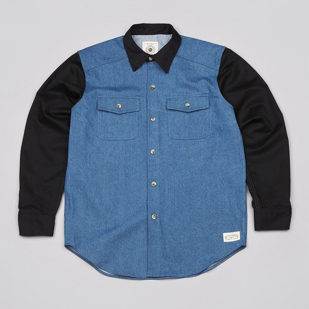 Muttonhead Pitching Jacket Denim / Black
