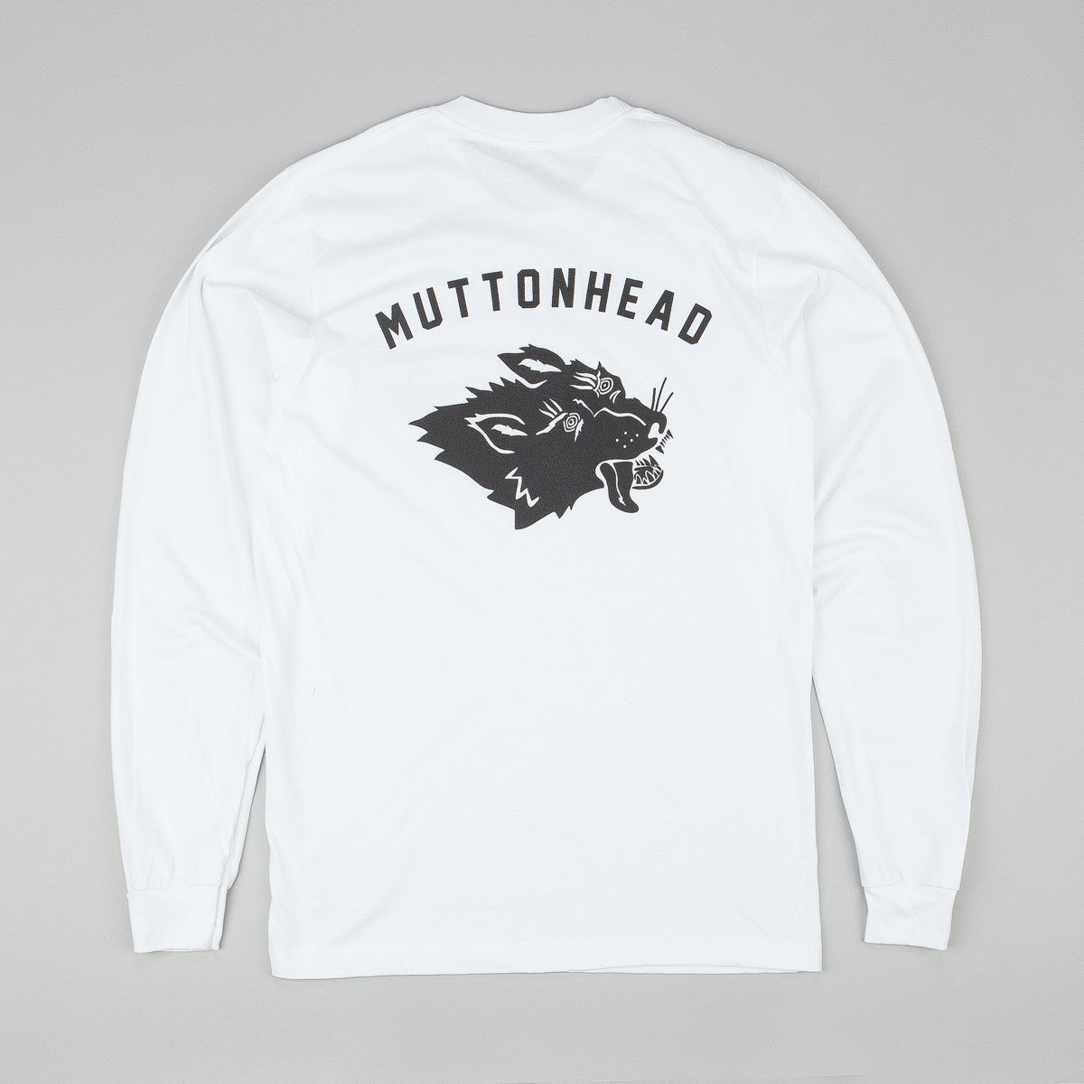 Muttonhead Stray Mutt Long Sleeve T-Shirt - White