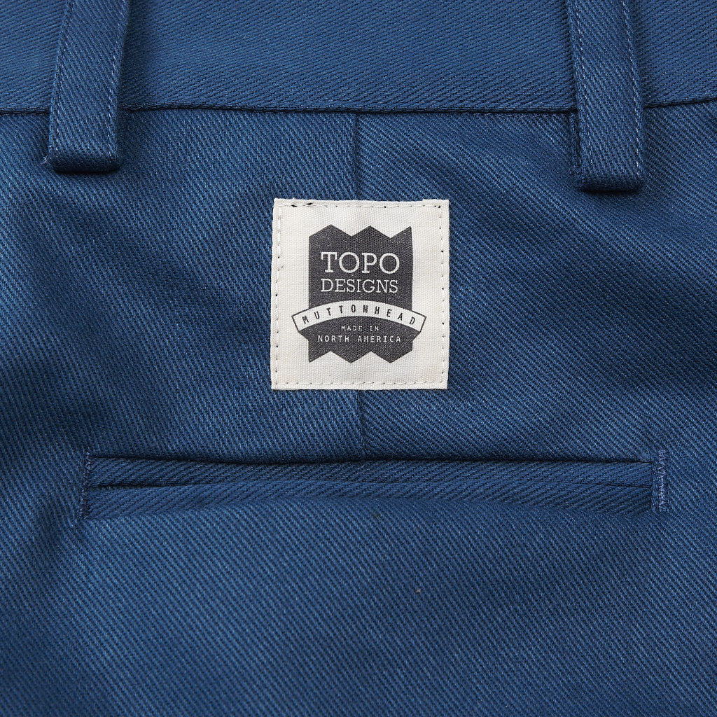 Topo X Muttonhead Utility Shorts Teal