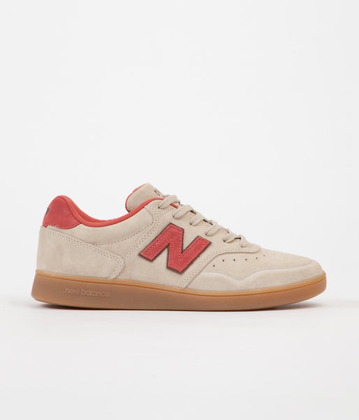 New Balance 288 Suede Shoes - Sand / Brick Red