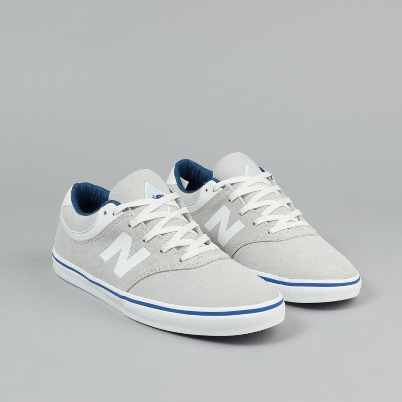New Balance Numeric Quincy 254 Shoes - White Suede