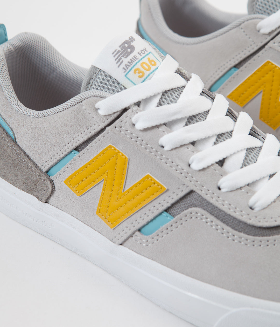 New Balance Numeric 306 Jamie Foy Shoes - Grey / Yellow